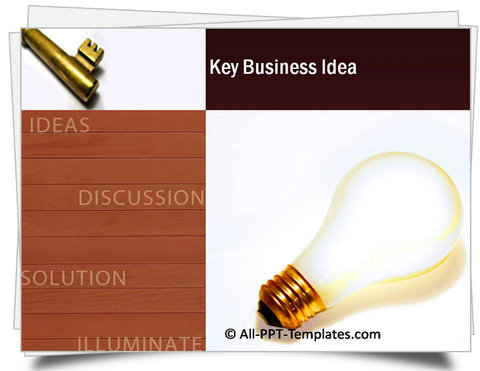 PowerPoint Key Business Idea Template
