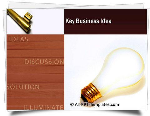 PowerPoint Key Business Idea Template