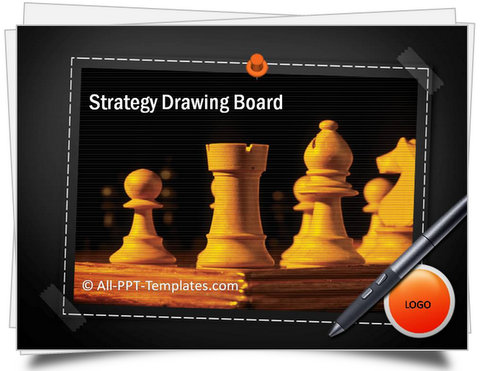 PowerPoint Strategy Drawing Board Template