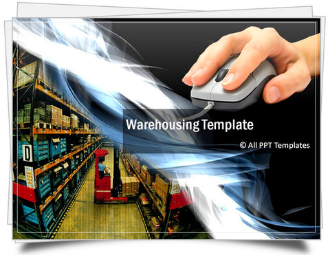 Powerpoint warehouse template toneelgroepblik