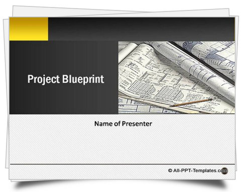Powerpoint project blueprint template malvernweather Choice Image