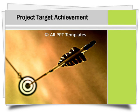 PowerPoint On Target Template Green Color