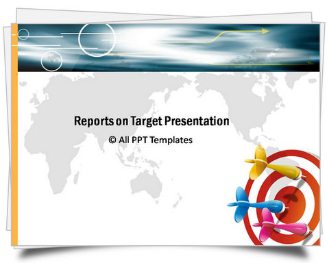 Colorful PowerPoint Target Report Template