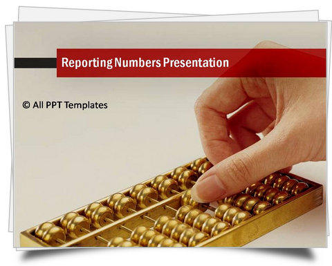PowerPoint Reporting Numbers Template