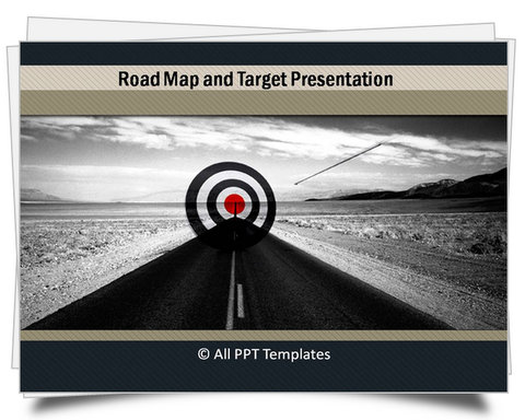 PowerPoint Professional Grey Roadmap Template