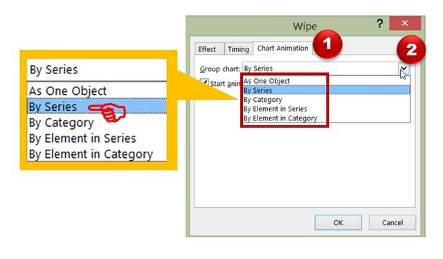 Selecting Wipe Effect Options